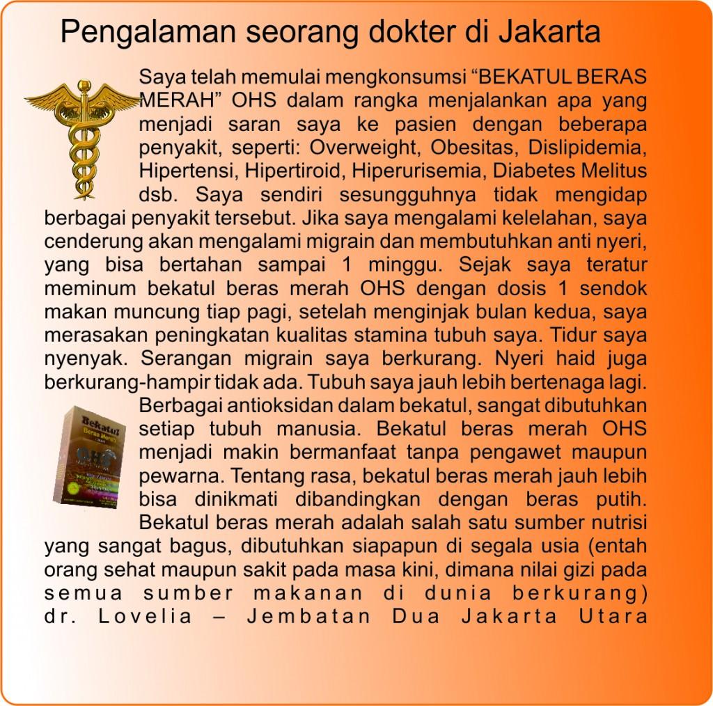 pengalaman dr Lovelia Jakut