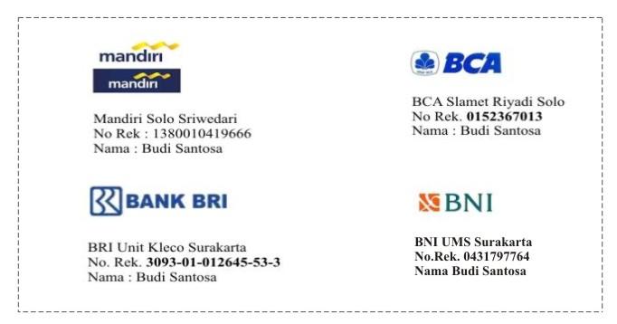 rekening transfer